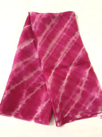 LEHERIYA TIE AND DYE PURE SILK ORGANZA FABRIC