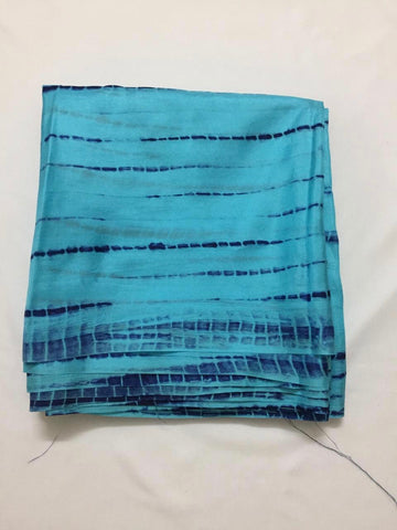 Shibori tie and dye pure soft silk kurta