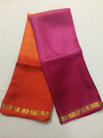 Multishaded Pure kota silk saree