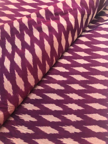 Ikat mercerised cotton fabric