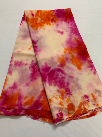 PURE SILK PLATINUM CHIFFON SHIBORI TIE AND DYE SAREE