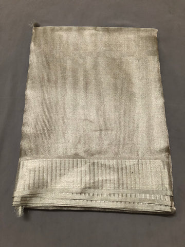 Pure silver tissue saree