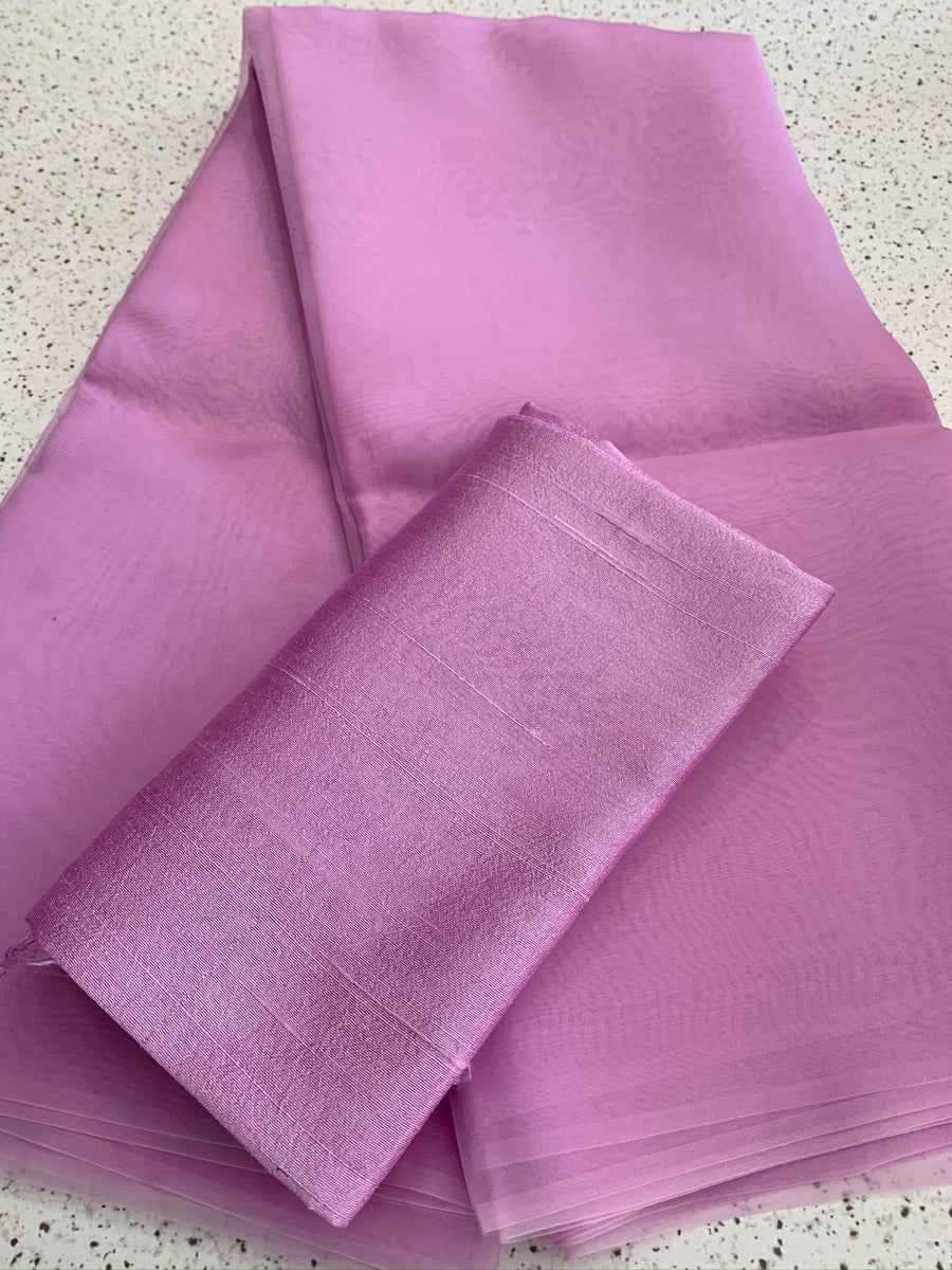 PURE SILK ORGANZA SAREE 20 GRAMS