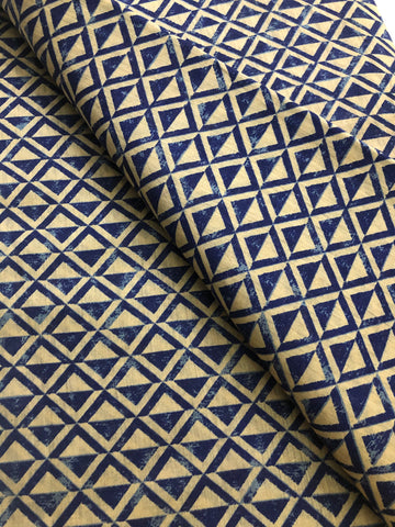 Printed handloom pure munga silk fabric