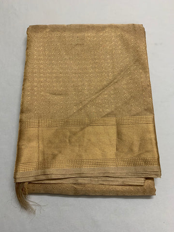 Pure gold tissue saree with self pattern