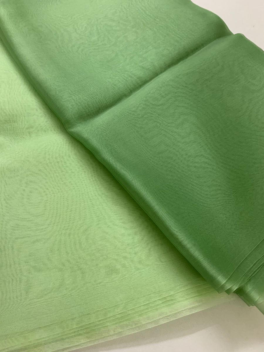 PURE SILK ORGANZA DOUBLE SHADED SAREE 20 GRAMS