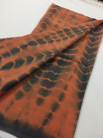Tie and dye Pure silk chiffon dupatta