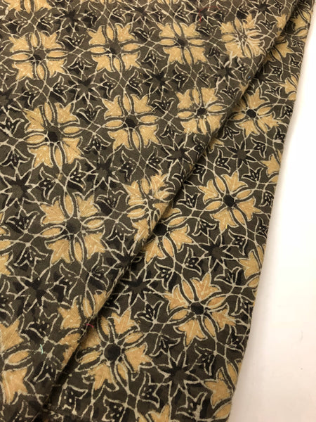 Ajrak printed cotton mal fabric