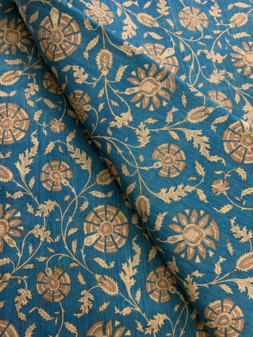 HANDLOOM PRINTED PURE MUNGA SILK KURTA FABRIC