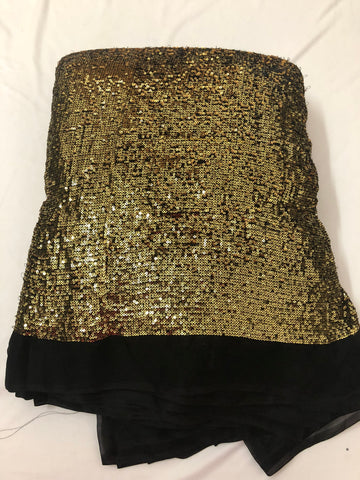 Double colour sequins on georgette fabric