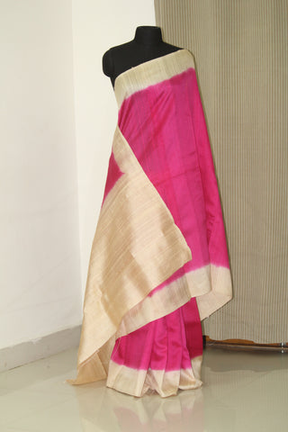 Pure dupion raw silk saree