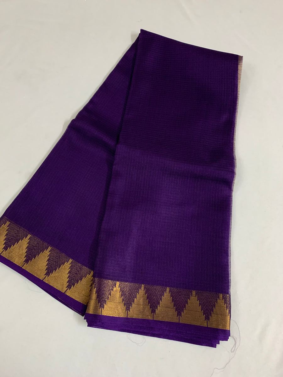Pure kota silk saree with temple border