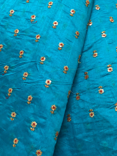 Embroidery on chanderi  fabric