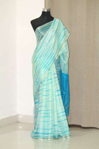 Tie and dye pure kota silk saree