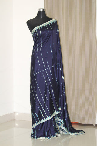 Pure soft silk shibori tie and dye saree