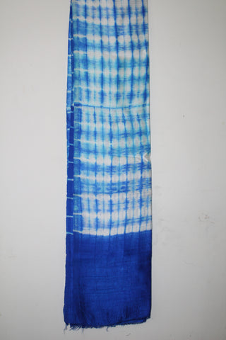 Shibori pure raw silk kurta fabric