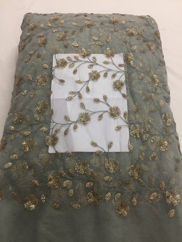 Embroidery on net dupatta