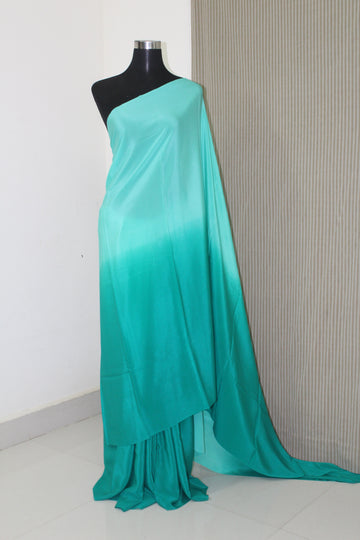 Double shaded pure crepe silk saree