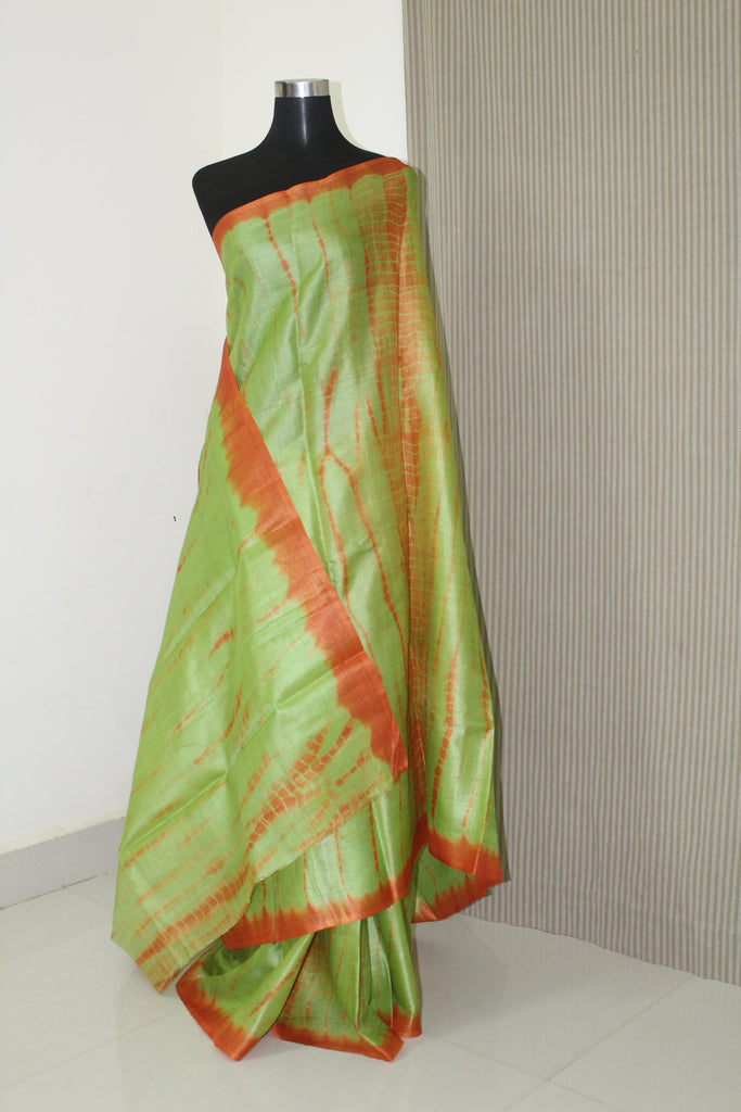 0c03b12d7c Tie and dye pure tussar silk saree – Akrithi