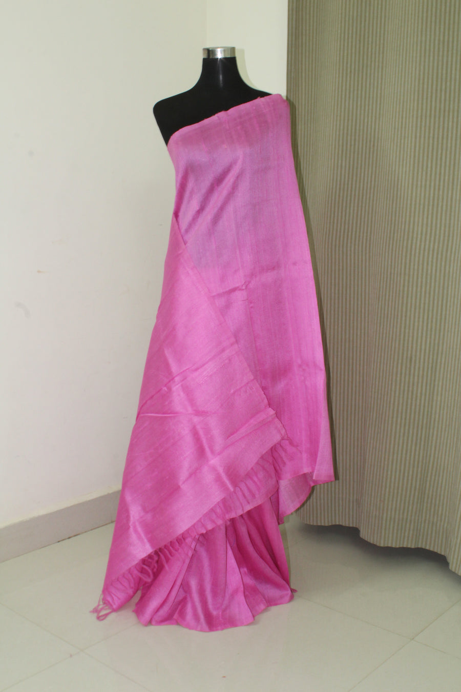 Dupion pure raw silk saree