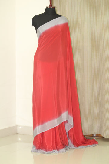 Double shaded crepe saree