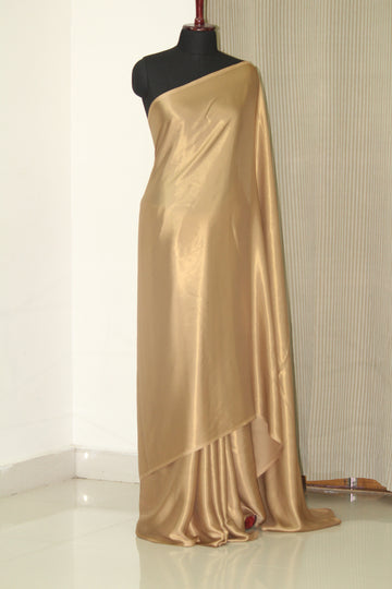 Foil georgette gold saree