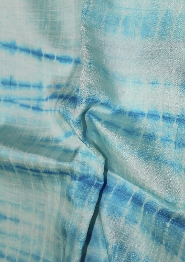 TIE AND DYE RAW SILK FABRIC