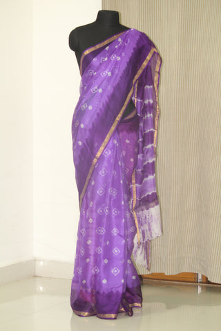 Tie and dye Bandhani pure kota silk saree