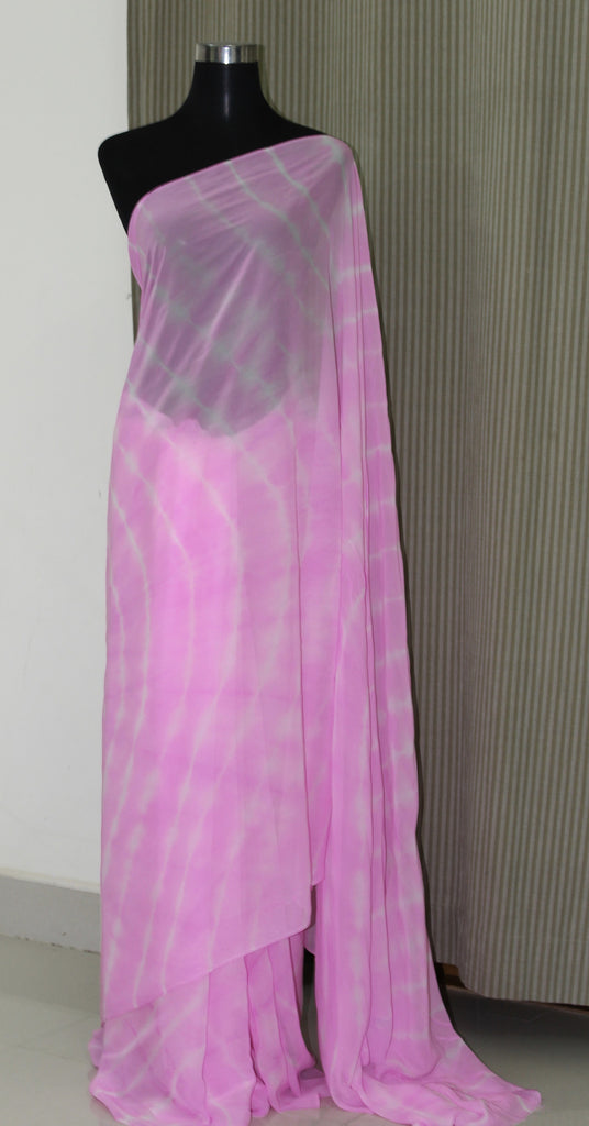 Leheriya georgette saree