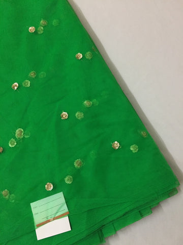 Butti net dupatta fabric