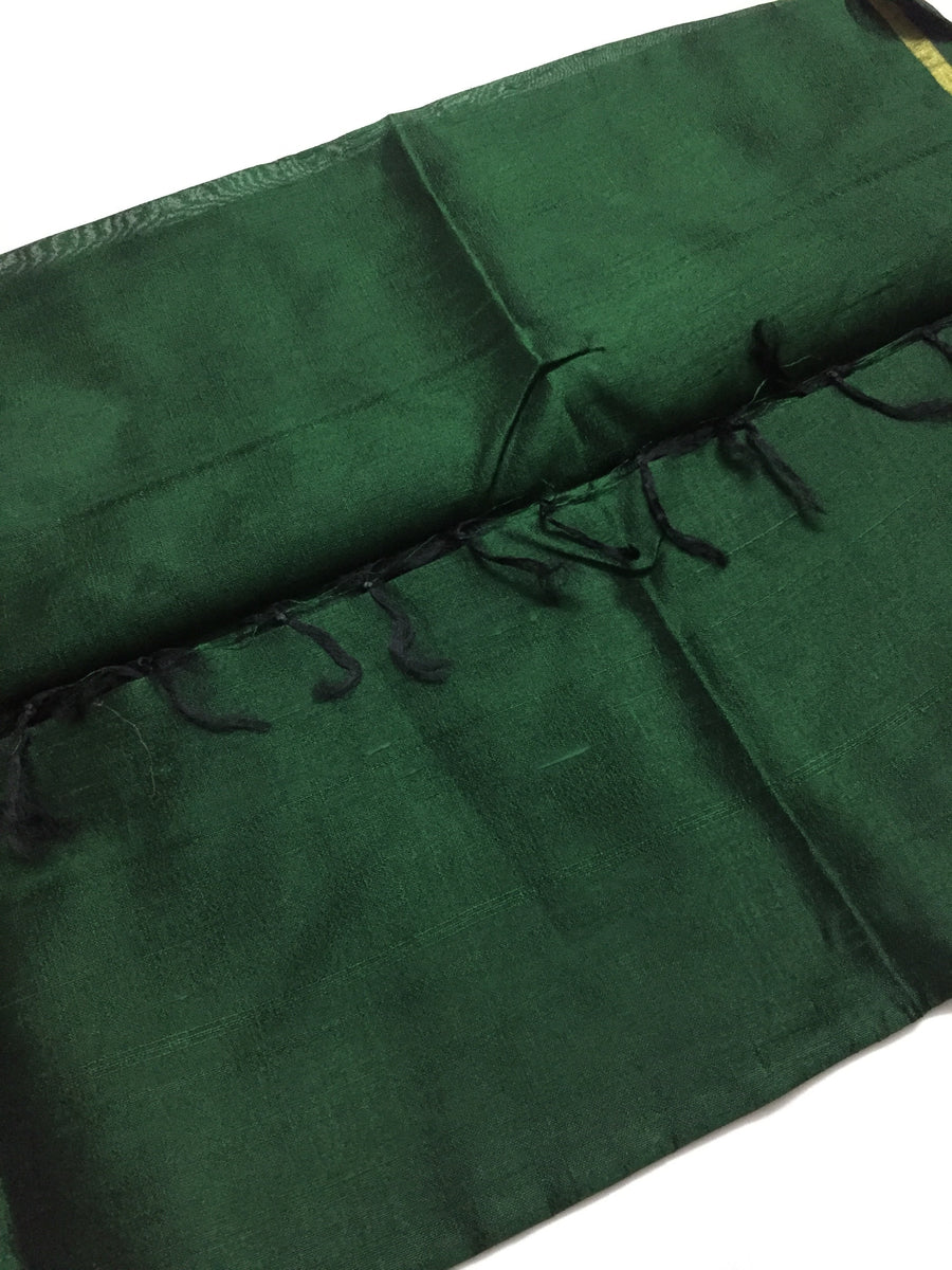 Pure raw silk dupatta with zari border