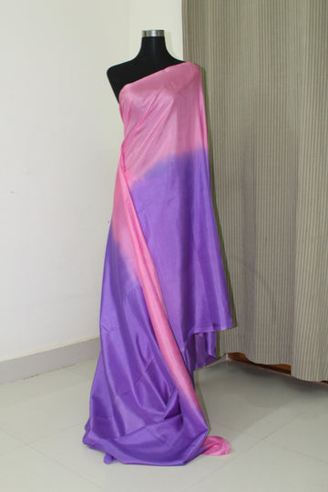 Pure soft silk cross dyed saree