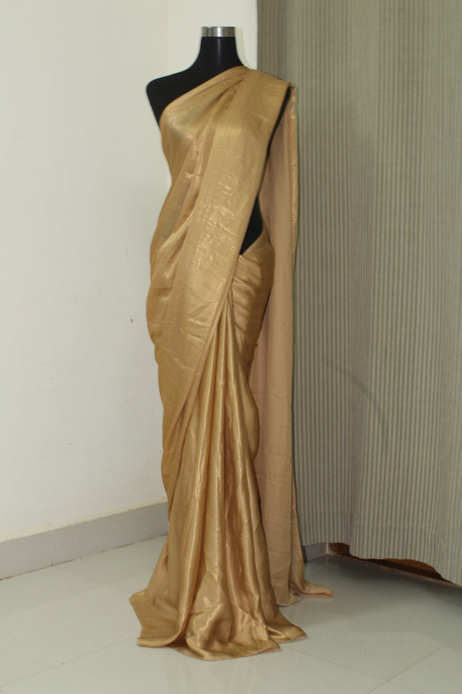 Golden foil georgette saree