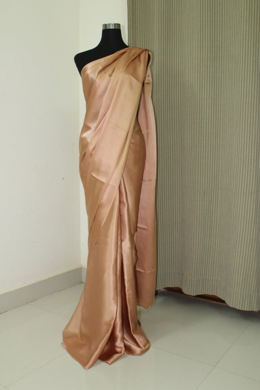 Pure silk satin saree