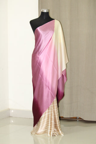 Pure silk saree, pure satin saree, multishaded saree, tie and dye saree, saree online