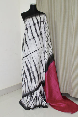 Pure raw silk saree, pure silk saree, tie and dye saree , tie and dye raw silk saree, shibori saree online.