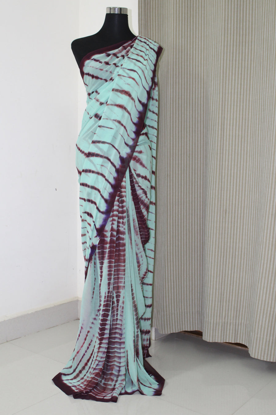 Tie and dye shibori georgette saree