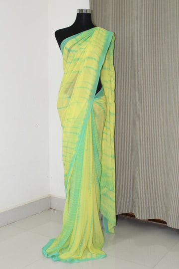 Shibori tie and dye pure georgette saree