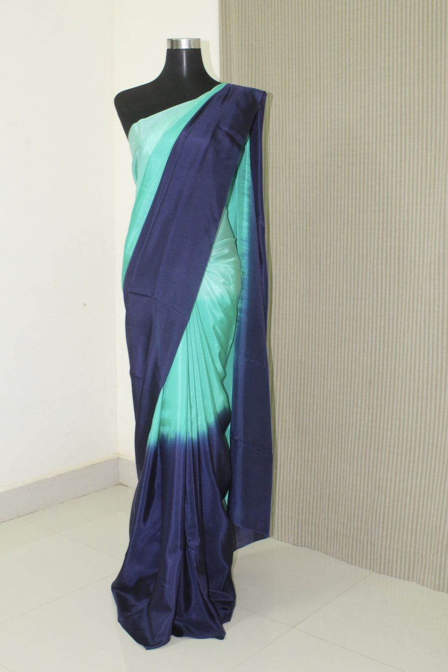 Shaded pure habutai silk saree