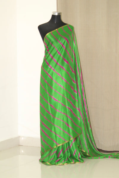 PURE CHIFFON LEHERIYA SAREE