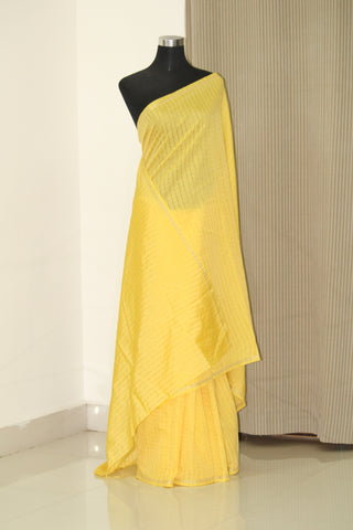Silk zari checks saree