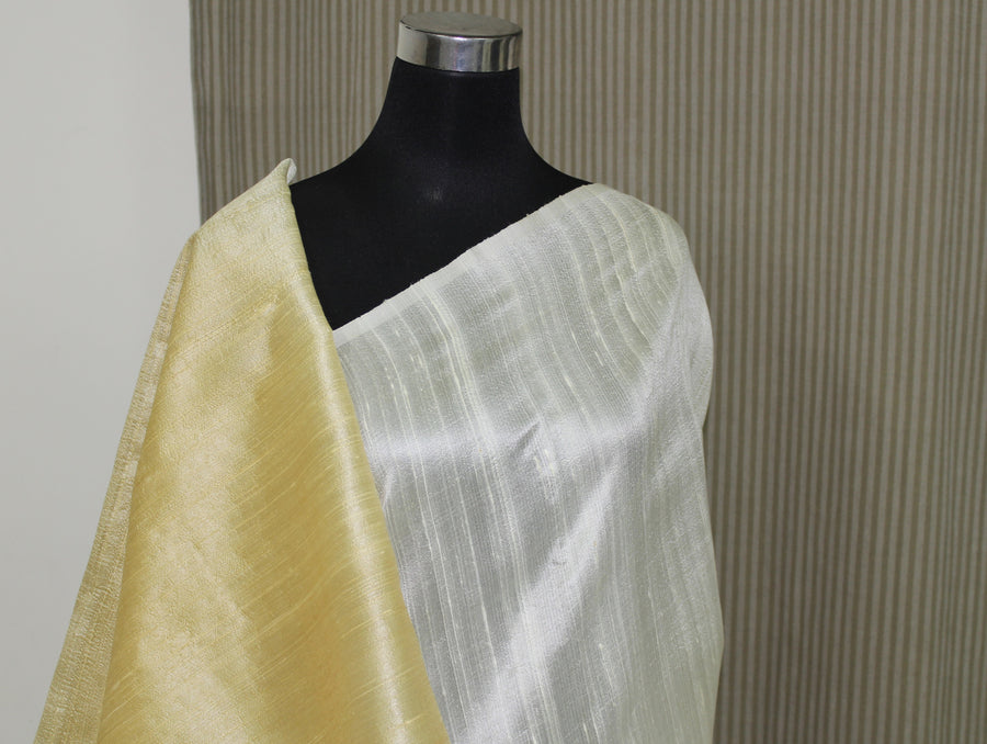 Pure raw silk saree in double shade