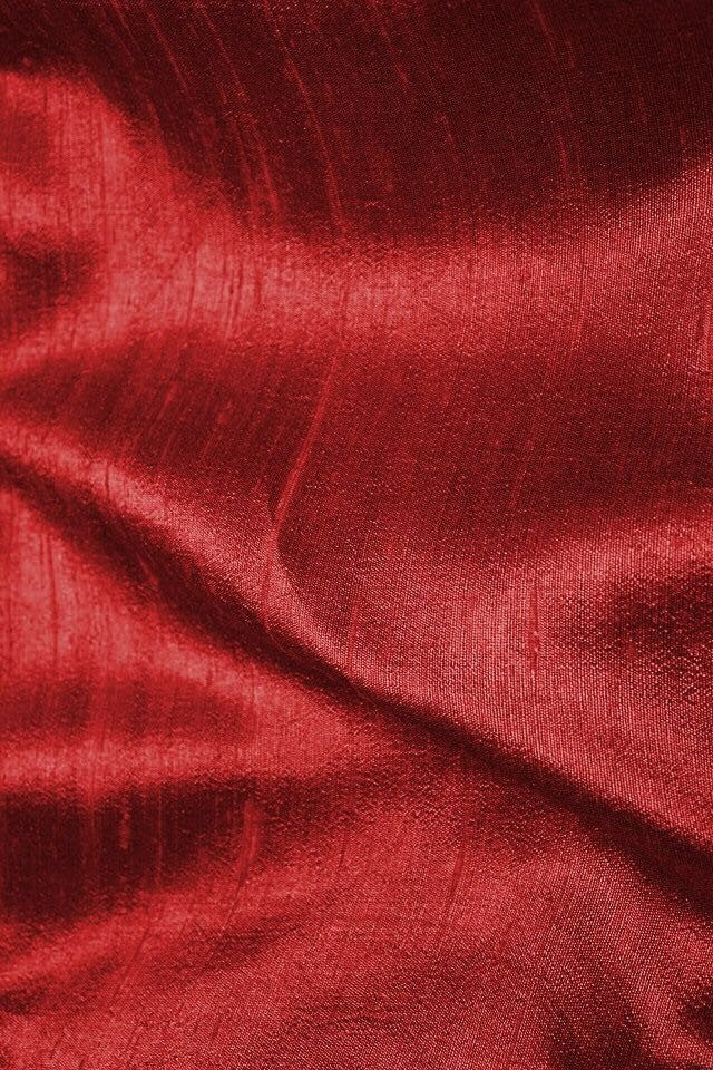 RED RAW SILK FABRIC