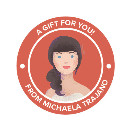 Portrait Custom Sticker Gift Label