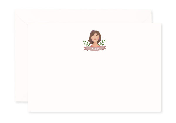 Portrait Notecard (Foliage)