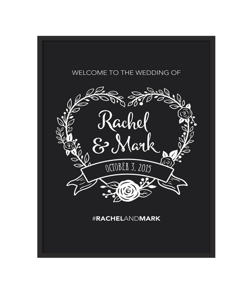 Chalkboard Heart Wedding Sign