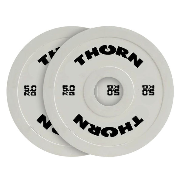 Hantelscheiben-Set gummiert 2 x 5kg - Friction Change Plates - THORN+fit Schweiz