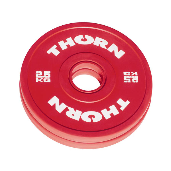 Hantelscheiben-Set gummiert 2 x 2.5kg - Friction Change Plates - THORN+fit Schweiz