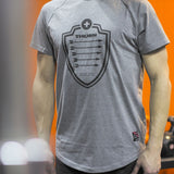 T-Shirt Arrow grau made in EU - THORN+fit Schweiz
