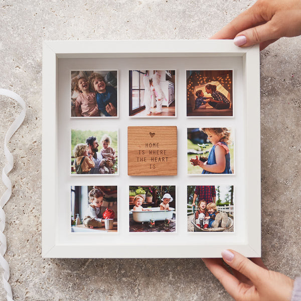 Personalised Home Is Where The Heart Is Framed Print